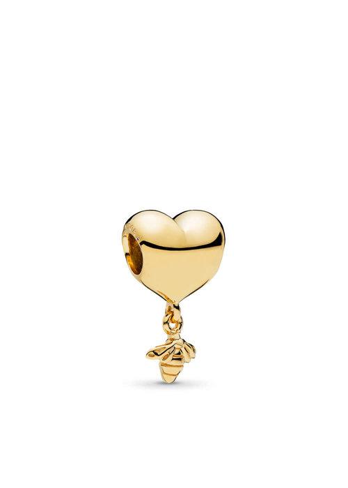 Pandora Heart & Bee Charm, PANDORA Shine™