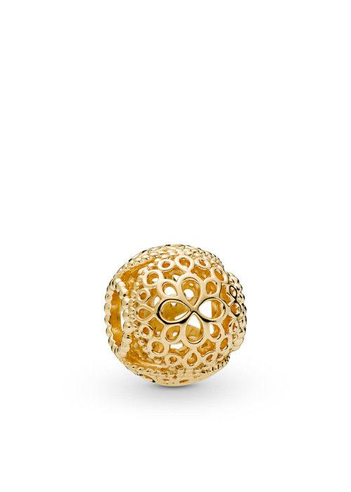 Pandora Openwork Flower Charm, Pandora Shine™
