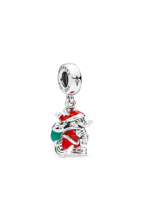 Pandora Disney, Santa Mickey & Gift Bag Dangle Charm