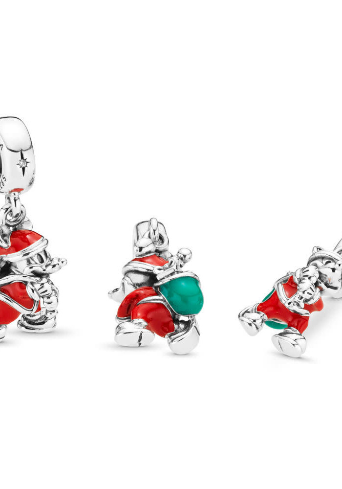 Disney, Santa Mickey & Gift Bag Dangle Charm