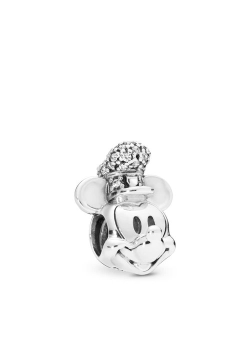 Pandora Disney, Shimmering Steamboat Willie Portrait Charm
