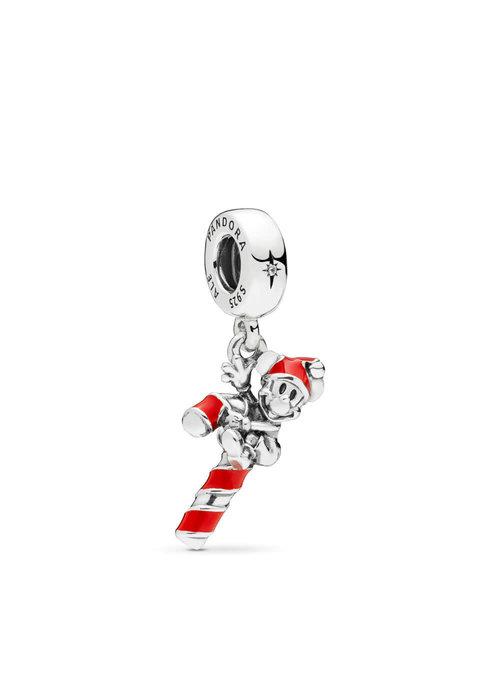 Pandora Disney, Santa Mickey's Candy Cane Dangle Charm