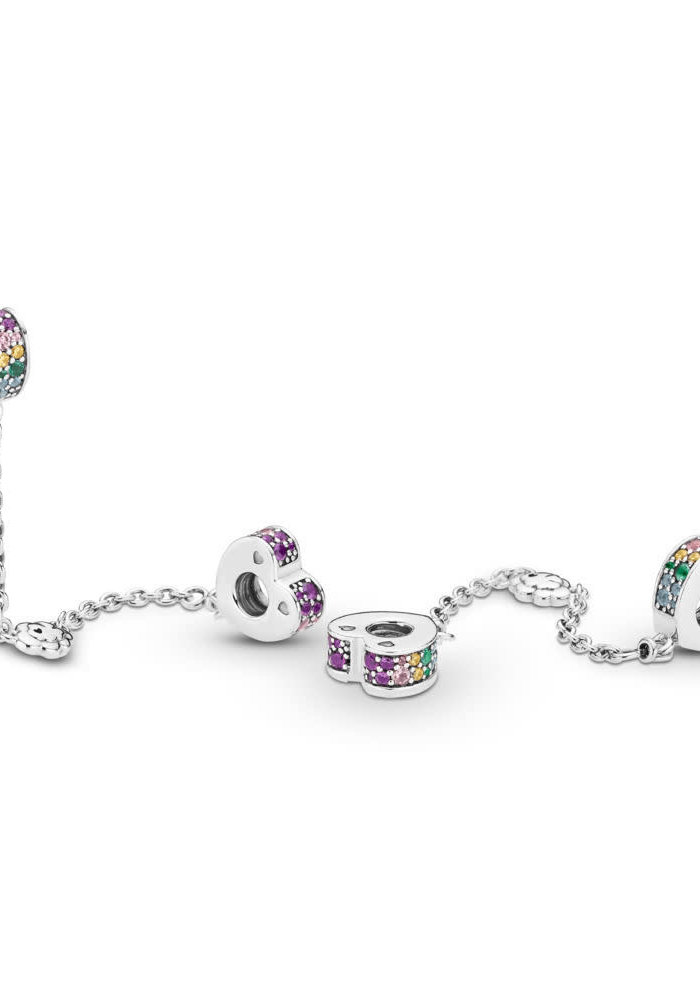 Multi-Colored Arcs of Love Safety Chain