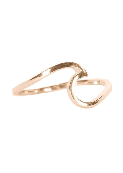 Pura Vida Rose Gold Wave Ring