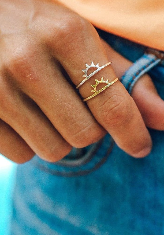 Sterling Silver Sunset Ring