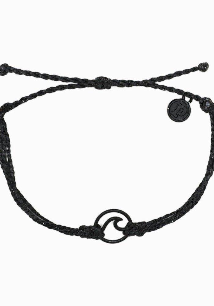 Black Wave Charm Bracelet