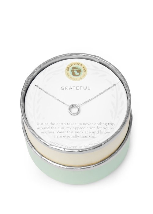 "Spartina 449 Sea La Vie ""Grateful"" Gift Message Necklace"