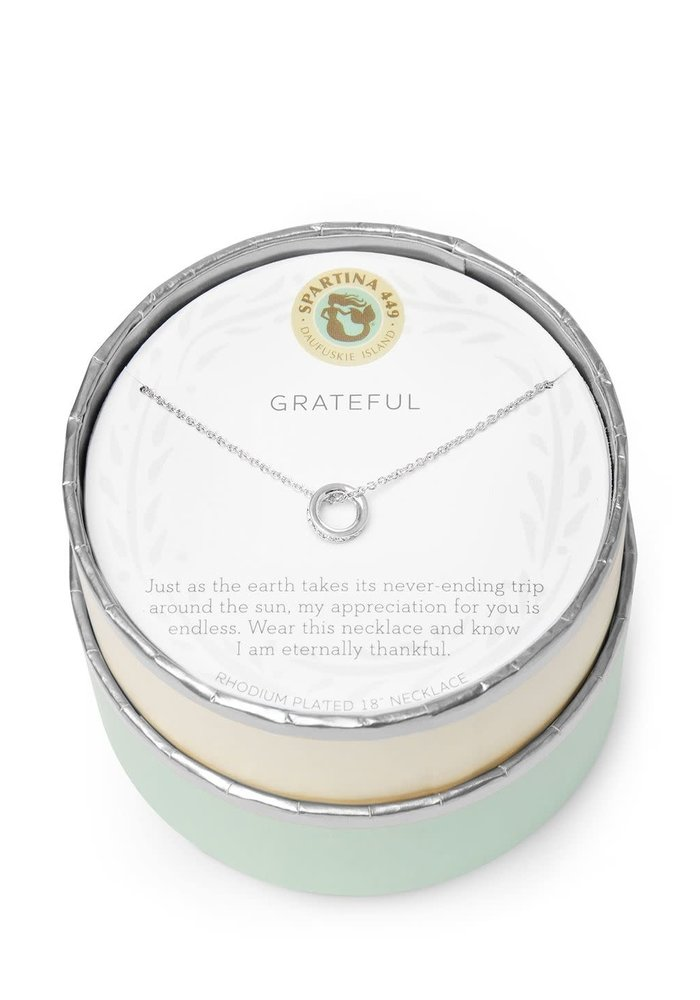 "Sea La Vie ""Grateful"" Gift Message Necklace"