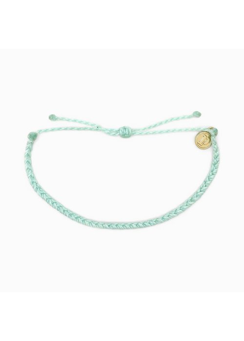 Pura Vida Mini Braided Solid Bracelet Winterfresh