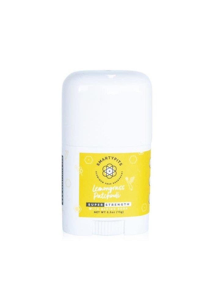 SmartyPits Natural Aluminum-Free Deodorant - Lemongrass + Patchouli