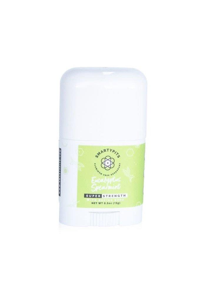 SmartyPits Natural Aluminum-Free Deodorant - Eucalyptus + Spearmint