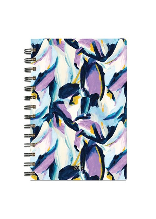 Purple Feathers Inspirational Quote Spiral Agenda