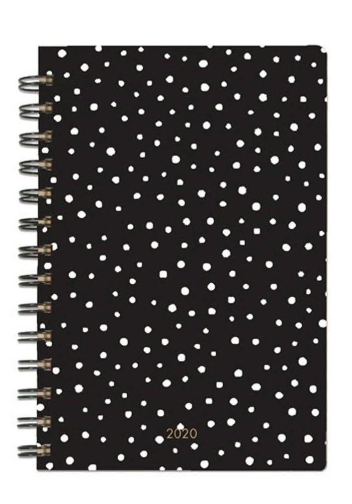 Black Dot Inspirational Quote Spiral Agenda