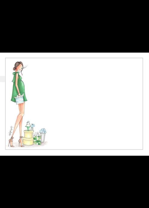 "Brittany Fuson ""Hydrangea"" Brittany Fuson™ Notecards"