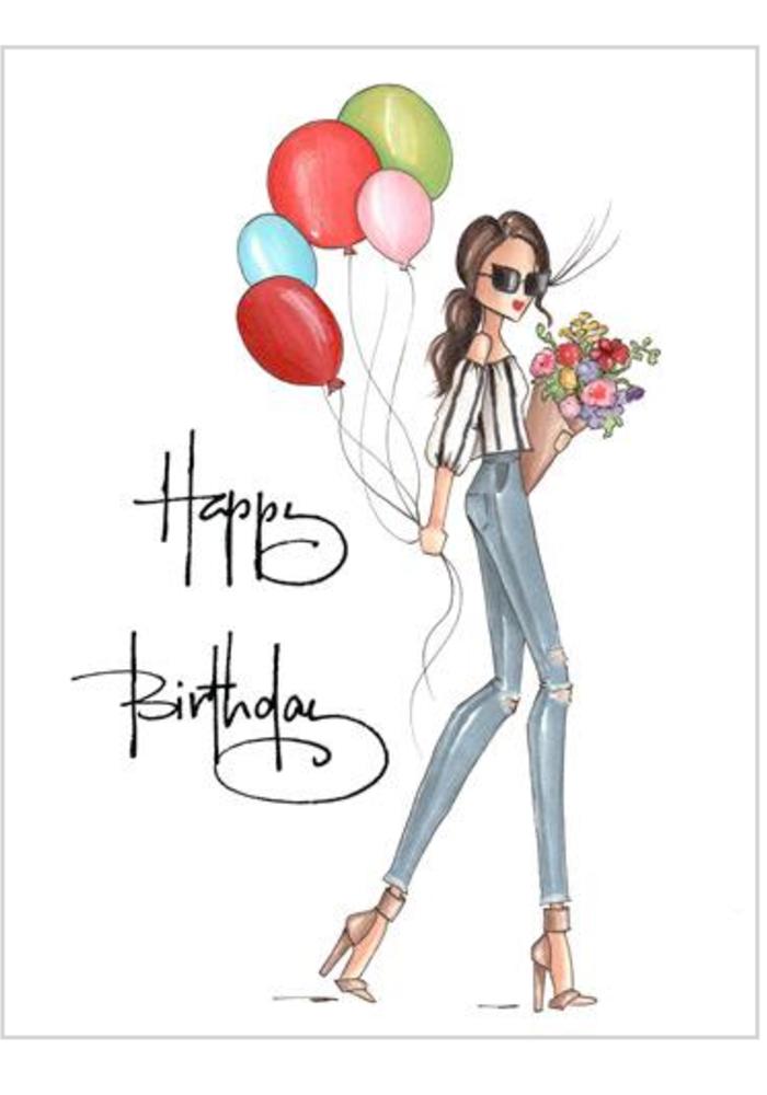 """Wilder"" Brittany Fuson™ Greeting Card"