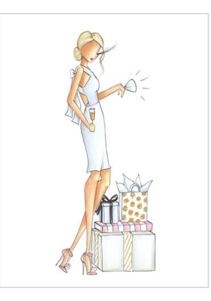 """Ava"" Brittany Fuson™ Greeting Card"