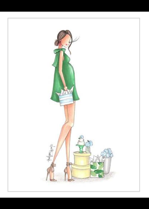 """Brittany Fuson """"Hydrangea"""" Brittany Fuson™ Greeting Card"""
