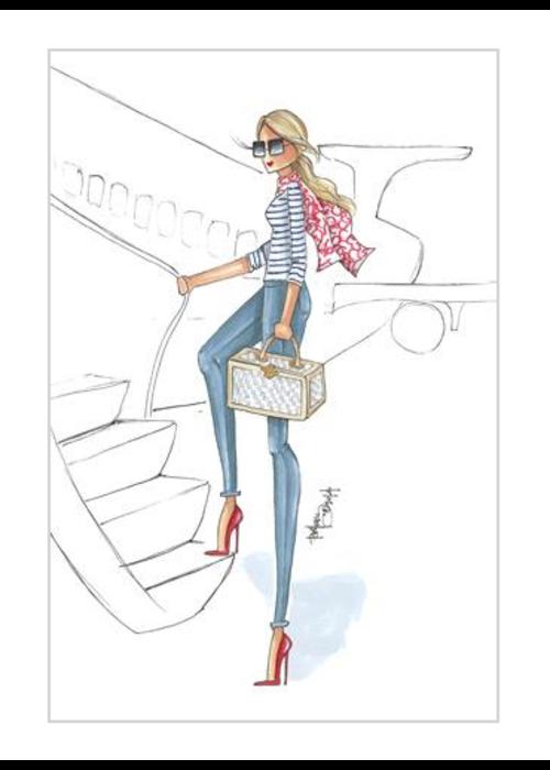 """Brittany Fuson """"Jetting"""" Brittany Fuson™ Luggage Tag"""