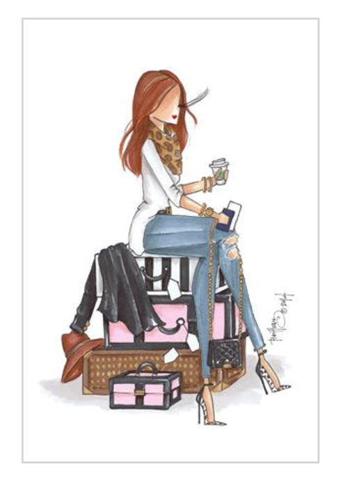 "Brittany Fuson ""Departures"" Brittany Fuson™ Luggage Tag"