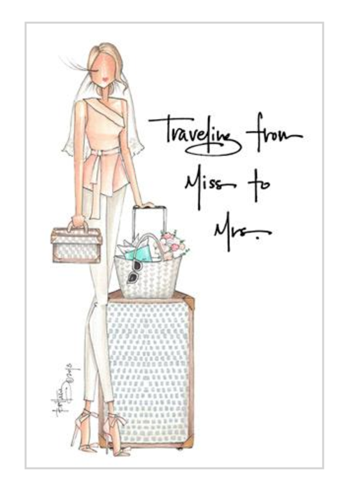"Brittany Fuson ""Miss to Mrs."" Blonde Brittany Fuson™ Luggage Tag"