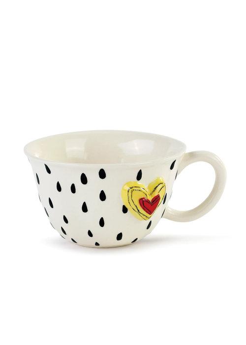 Raindrops Heart Tea Cup