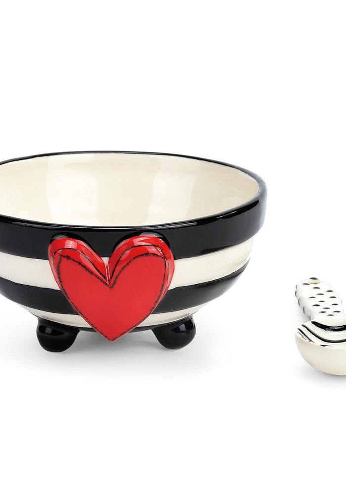 Wide Stripe Candy Bowl Set