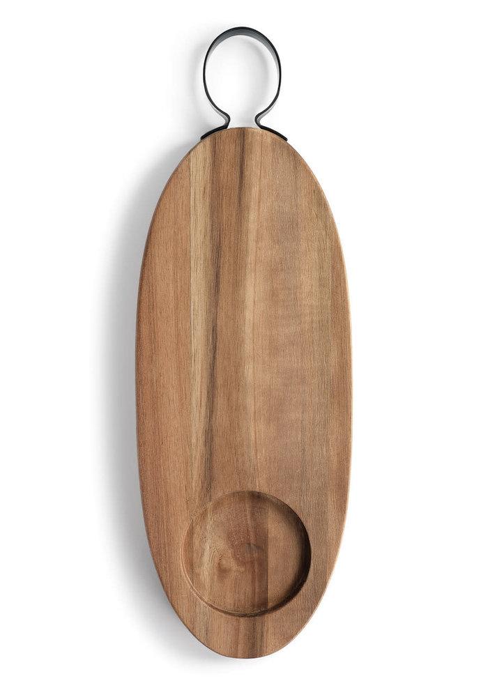 Long Acacia Wood Serving & Cutting Board