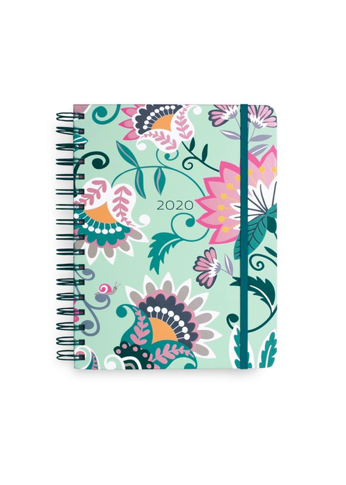 "Vera Bradley ""Mint Flowers"" Large 17 Month Planner"