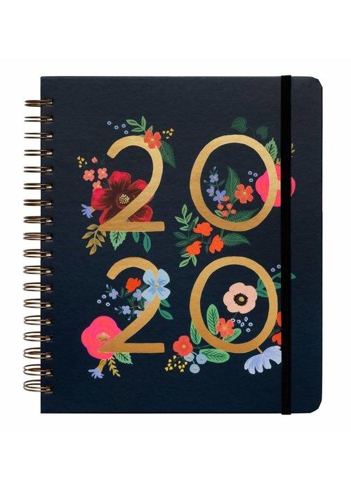 """Rifle Paper """"Wild Rose"""" 2020 Spiral Bound Planner"""