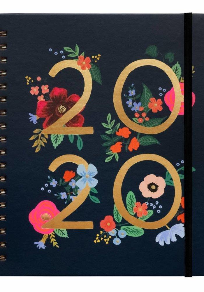 """""""Wild Rose"""" 2020 Spiral Bound Planner"""