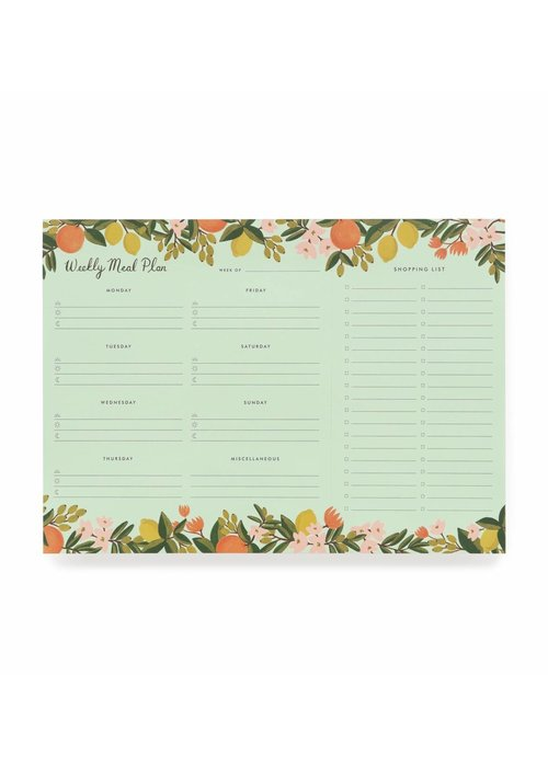 Rifle Paper Citrus Floral Meal Planner