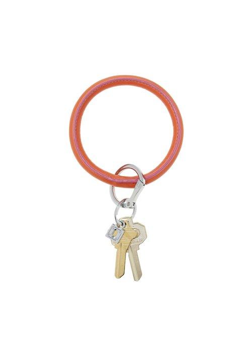 Oventure Leather Big O Ring Take Me Tangerine