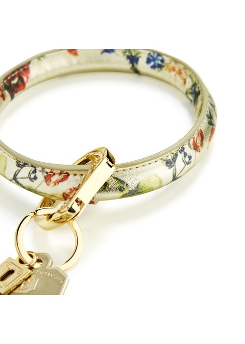Oventure Gold Rush Floral Leather Big O Ring