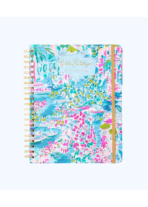 Lilly Pulitzer 17 Month Jumbo Agenda - Postcards From Positano
