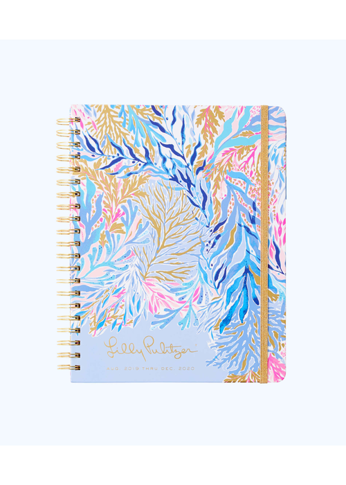Lilly Pulitzer 17 Month Jumbo Agenda - Kaleidoscope Coral
