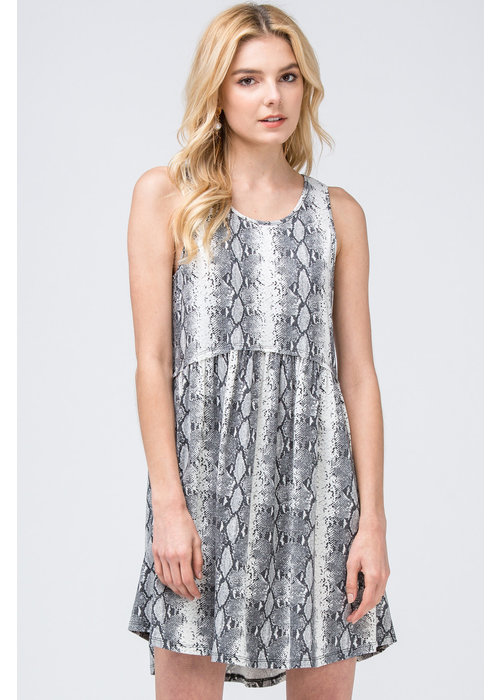 Snake Skin Sleeveless Dress