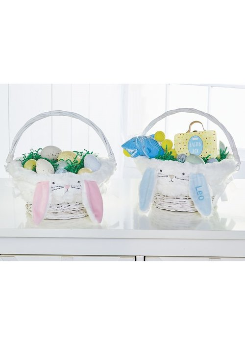 Mudpie Satin Bunny Ear Wicker Baskets