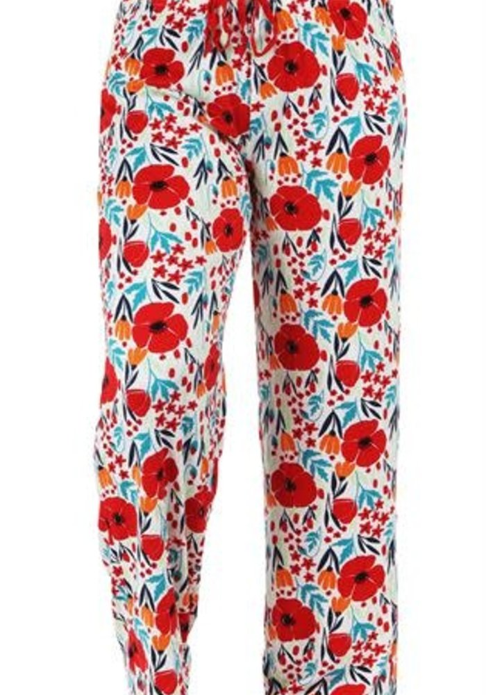Red Floral Lounge Pants