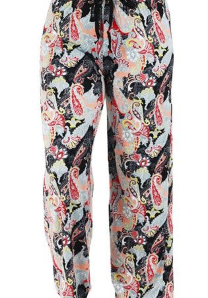Black Paisley Lounge Pants