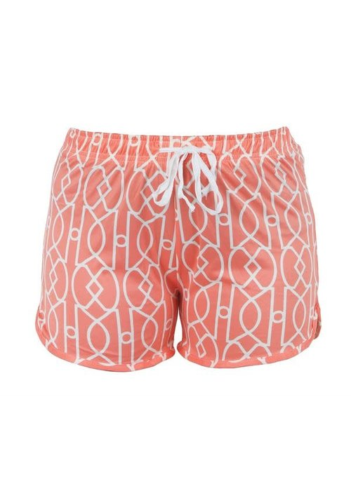 Coral Lattice Lounge Shorts