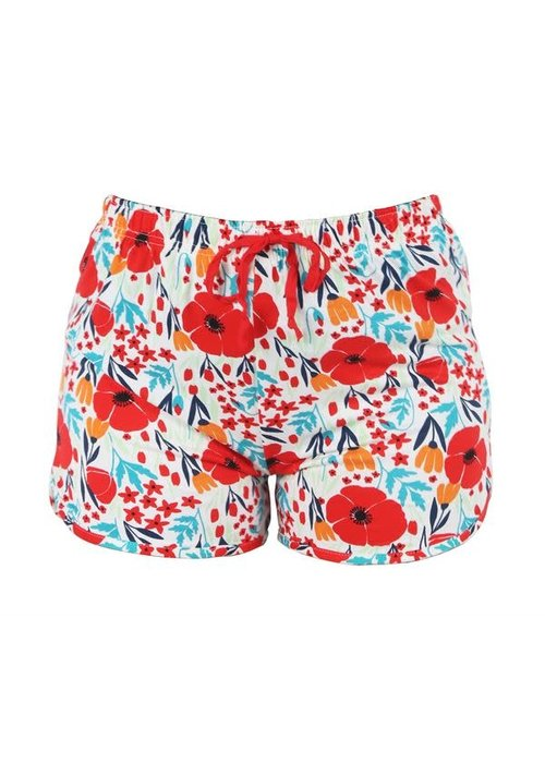 Red Floral Lounge Shorts