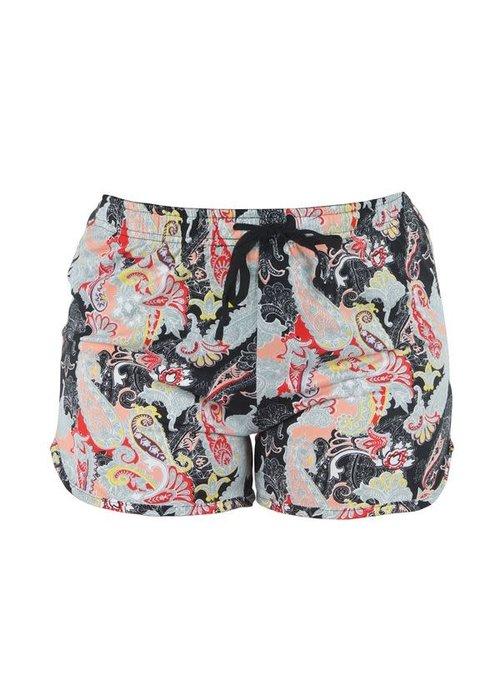 Black Paisley Lounge Shorts