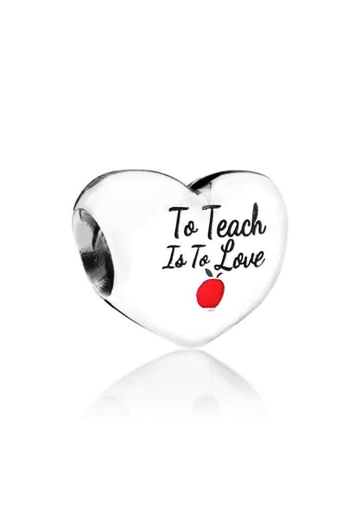To Teach is Love Heart Charm