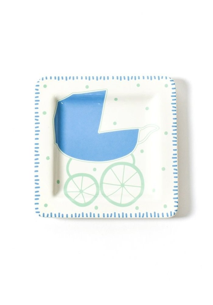 Baby Carriage Square Plate