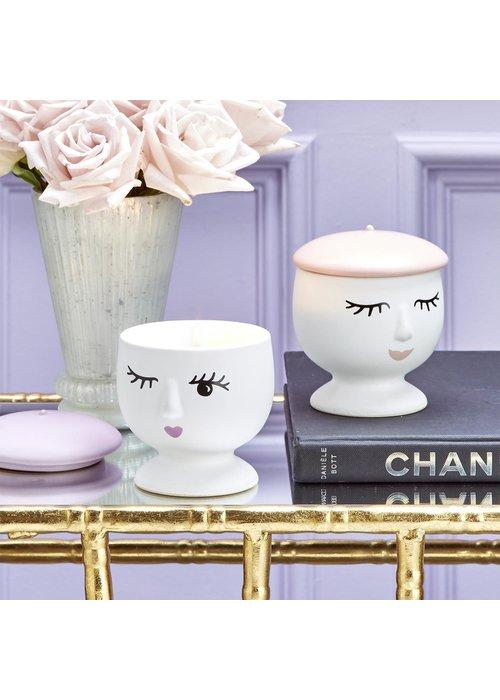 Parisian Beret Porcelain Candle