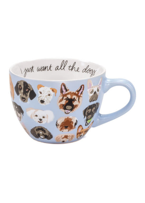 I Just Want All the Dogs Oversized Mug