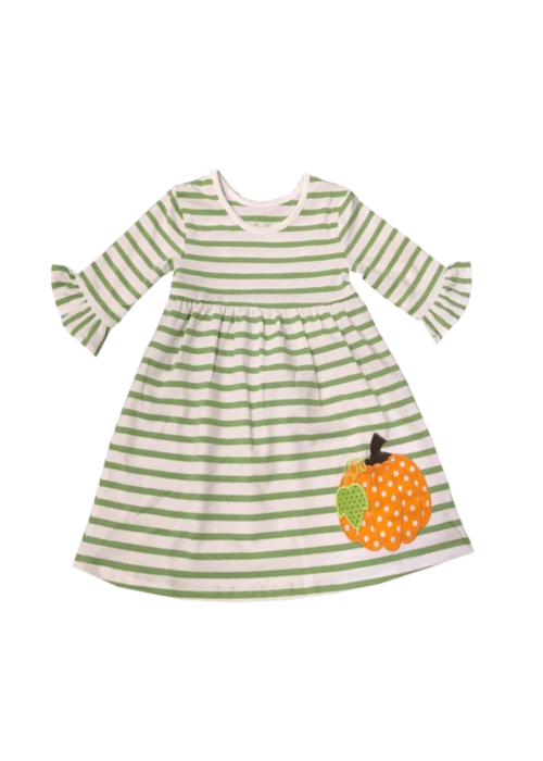 Kid's Fall Pumpkin Applique Dress