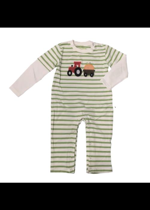 Tractor & Pumpkin Long Baby Romper