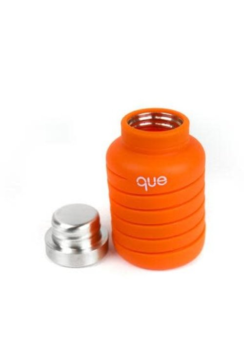 Que 20 oz Collapsible Bottle - Sunbeam Orange
