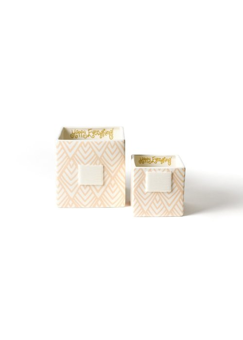 Happy Everything Layered Diamond Nesting Cubes